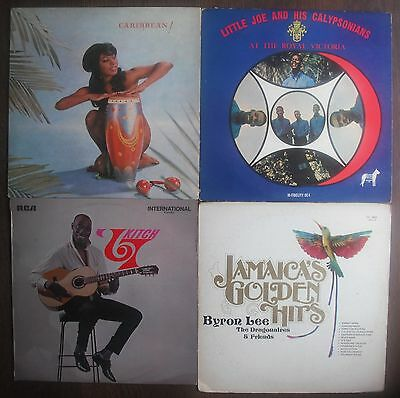 Calypso Reggae Job Lot 4 X Vinyl Lp's (Byron Lee, Lord Kitchener Lp's)