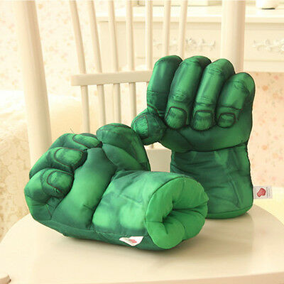 1 Pair Super-sized Cotton Hulk Smash Hands Plush Punching Boxing Fists 25CMx20CM