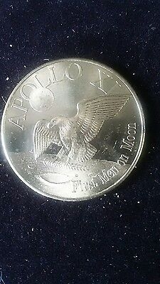 NASA MEDALLION COIN/CHARM  APOLLO 11 2nd Lunar Landing Gold color