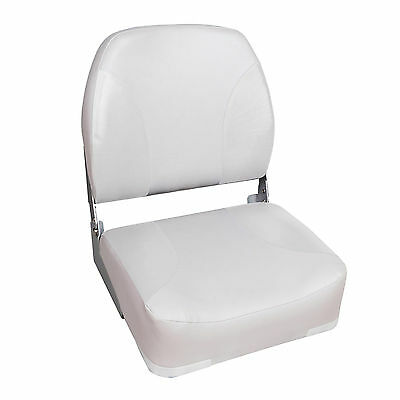 New Deluxe Folding Marine Boat Seat, White