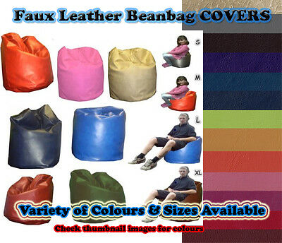 COVERS ONLY - Faux Leather beanbag covers - WORLDWIDE FROM THE UK