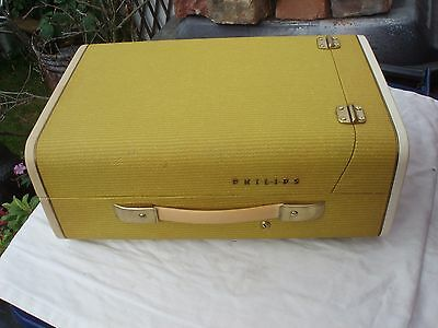 VINTAGE STYLISH 1950's/1960's PHILIPS PORTABLE RECORD PLAYER TURNTABLE AG9148