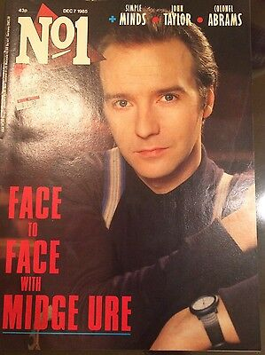 No.1 uk magazine Dec 7 1985 Midge Ure, Simple Minds, John Taylor, Colonel Abrams
