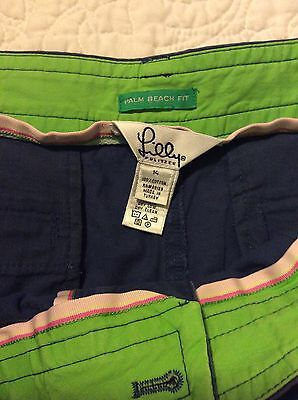 Lilly Pultizer Palm Beach Fit Shorts Size 14 Navy Blue