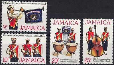 Jamaica Stamps 1977 The 50th Anniversary of Jamaica Military Band SET OF 4 MNH