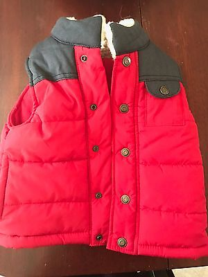 NWT $32 Toddler Boys Carter's Red Quilted Puffer Vest 3T