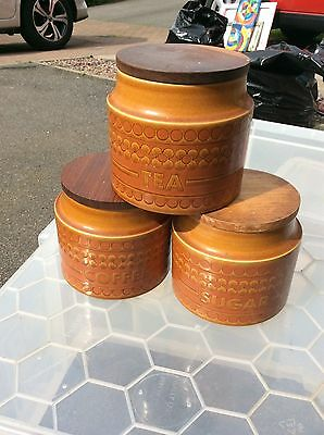 Hornsea Saffron Tea Coffee And Sugar Storage Jars
