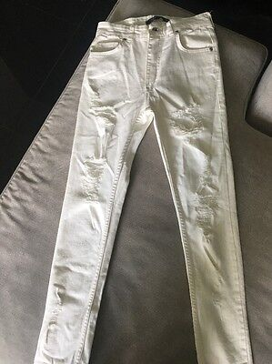 Ripped High Waisted White Jeans Size Small - Size 6/8 - New