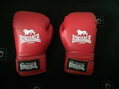 Lonsdale Boxing Gloves, Red, 12oz, Xtra-Large