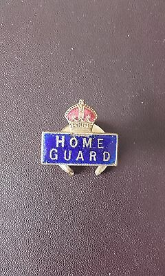 Ww2 Home Guard Lapel Badge Blue And Red Enamel