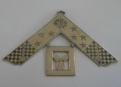 Symbolic Victorian Silver 1896 Masonic Past Masters Collar Jewel Not Engraved