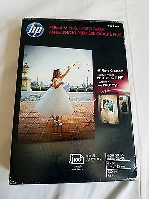 HP Premium Plus Photo Paper, 4 x 6 Inch with Tab, 100 Sheets (Q5431A)