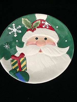 Vintage Fitz and Floyd Merry and Bright Santa Claus Plate