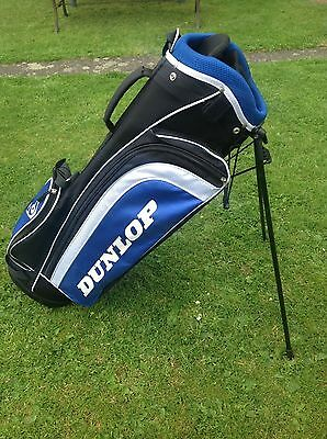 Golf Club Bag Dunlop Lightweight Carry Stand Bag Harness Strap Good Condition++