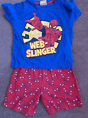 Boys aged 3-4 years Spider-Man shirt pjs.