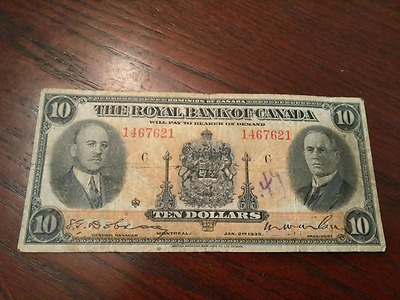 1935 The Royal Bank of Canada $10