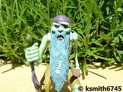 ELC BLUE BEARDED PIRATE solid plastic toy figure ocean adventure bad guy