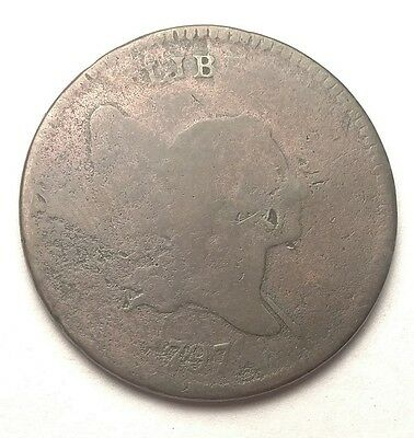 1797 1/1 Liberty Cap Half Cent Plain Edge G Details