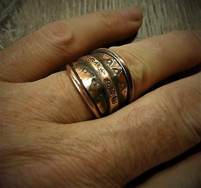 Antique Hand Crafted Copper Viking Ring 7,97 gr.