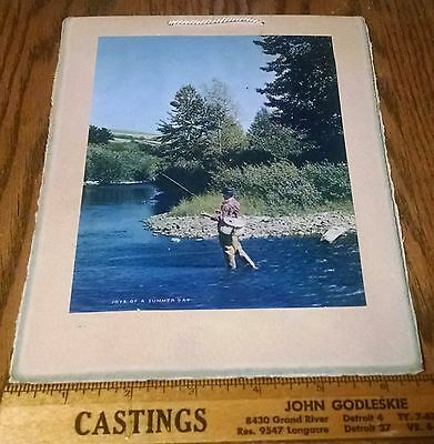 MAKE OFFER 1945 Dave Berger Daves Place Farrell PA Calendar Beer Fly Fishing