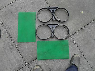 Diving twin cylinder bands and cylinder protecters.