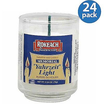 Rokeach Yahrzeit Light Memorial Candle 2.75 oz (Pack of 24)