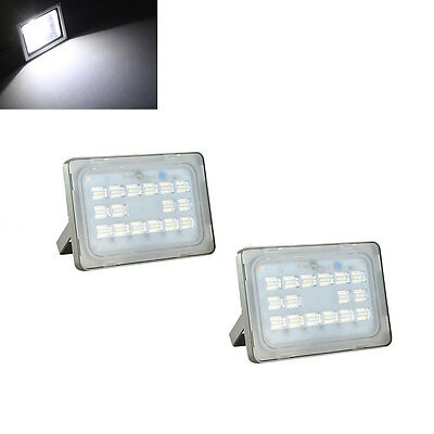 2X 50W Led Floodlight Outdoor SMD Garden Security Cool White Waterproof Lamp