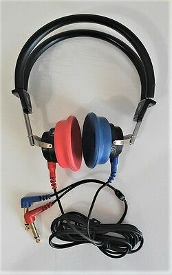 Headphones  For Audiometer With Tdh 39 Telephonics And Cables