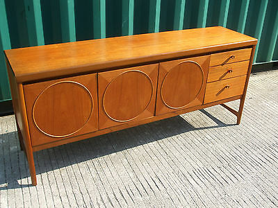 "Vintage Nathan ""Circles"" teak sideboard, solid qualty, iconic 70s retro design"
