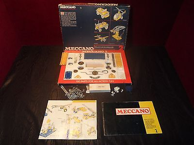 Vintage 1970'S Meccano Construction Set 2 with original manuals Rare find!
