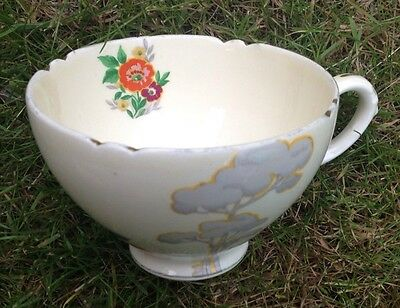 Vintage Royal Cauldon Tea Cup Art Nouveau Design Loss Of Guilding Good Con