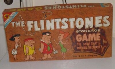 "VINTAGE The Flintstones Stoneage  Game ""The Game That Rocked Bedrock"" Transogram"