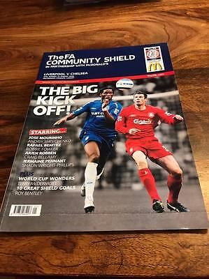 Liverpool V Chelsea 2006 Fa Charity Community Shield Programme Free Postage Look
