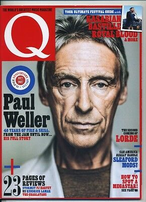 Q magazine July 2017 Paul Weller The Jam Kasabian Lorde Bastille Royal Blood