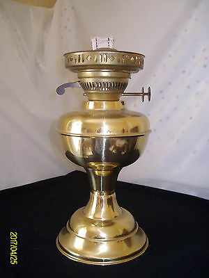 Vintage Brass Oil Lamp Base And Burner