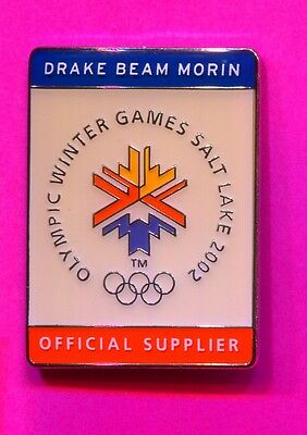 2002 Salt Lake City Olympic Drake Beam Morin Pin Official Supplier Pin