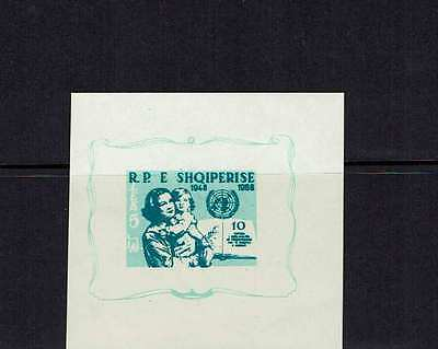 Albania 1959 10th Anniversary of the Declaration of Human Rights, m/s MNH