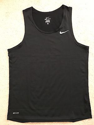 NEW Nike dri-fit contour miler running tank top singlet men's Small Training Air