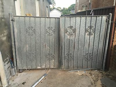 Wrought Iron Double Gate