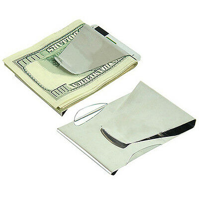 Stainless Steel ID Credit Card Wallet Double Sided Money Clip Mens Gift