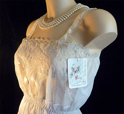 """Vintage 1950's nylon camisole by  Perrico. NOS Bust 36"""""""