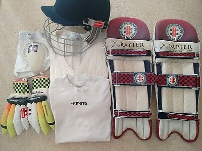 Cricket Equipment Accessories Grey Nicholls Youth Cricket Pads Helmet Gloves Kit