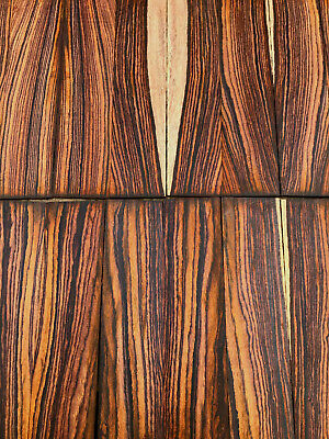 Cocobolo rosewood bookmatched guitar headplate / veneer / inlay set