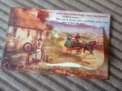 Bit Of Old Ireland 12 Fold Out Picture Postcard Killarney Valentines Dublin