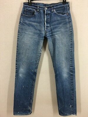 Vintage Distressed Levi's 501 Selvedge Redlines Jeans Sz 32x33.5 (Actual)