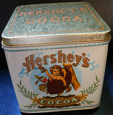 "Vintage ""Hershey's Cocoa Tin with Lid"" (Empty)"