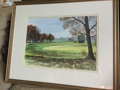 WaterColour Painting By Isabel M Castle Leatherhead Golf Club 2002