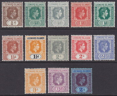 LEEWARD ISLANDS - 1938 ¼d to 2s Definitives - MM / MH