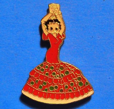 Betty Boop - Red Dress - Flamenco Dancer - Vintage Lapel Pin - Hat Pin