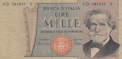 Italy 1000 Lire Banknote 1969-81 (Pick 101)
